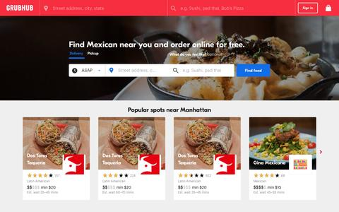 Mexican Near me | Find Mexican Restaurants Near You | Grubhub