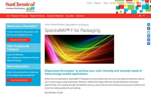 SpectraRAY® F for Packaging | Sun Chemical