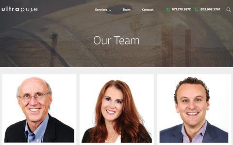 Screenshot of Team Page ultrapure-usa.com - Team - UltraPure - captured Feb. 4, 2016