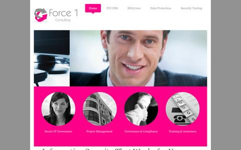 Screenshot of Home Page force1consulting.co.uk - Force 1 Consulting - captured Oct. 6, 2014