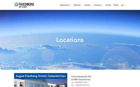 Screenshot of Locations Page august-friedberg.com - Locations - August Friedberg - captured Oct. 4, 2018