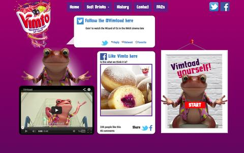 Screenshot of Home Page vimto.co.uk - Vimto Soft Drinks - Seriously Mixed Up Fruit - captured Oct. 7, 2014