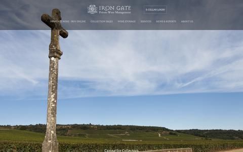 Screenshot of Home Page irongatewine.com - Iron Gate - Wine Storage in Toronto, Ontario - captured Oct. 12, 2018