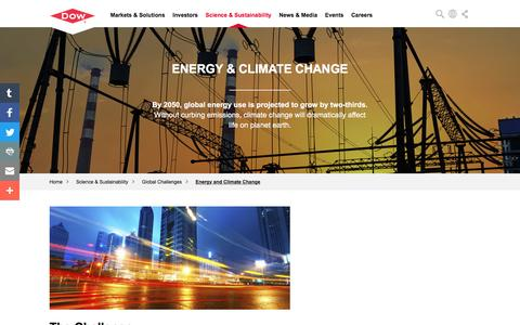 Global Challenges: Energy and Climate Change | Dow