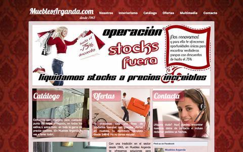 Screenshot of Home Page mueblesarganda.com - Tienda de muebles de salon y sofas en Madrid | Muebles Arganda - captured Oct. 7, 2014
