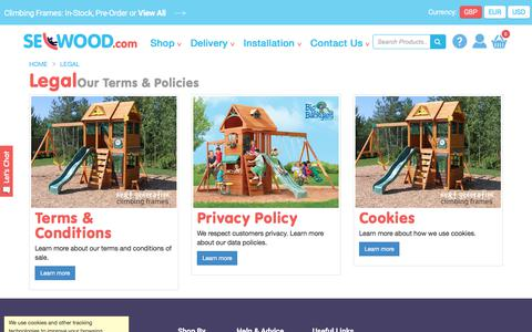 Screenshot of Terms Page selwood.com - Legal Terms & Policies for Selwood.com - captured July 19, 2018