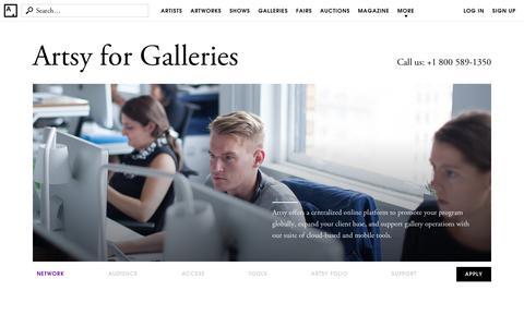 Gallery Partnerships | Artsy