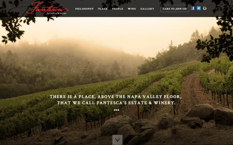 Screenshot of Home Page fantesca.com - Fantesca Estate & Winery | A Napa Valley Winery - captured Oct. 5, 2014