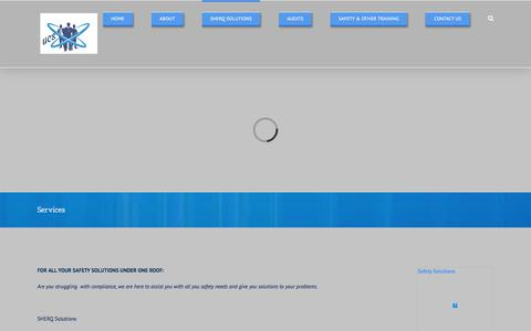 Screenshot of Services Page ucscc.co.za - Services – www.ucscc.co.za - captured Oct. 4, 2017