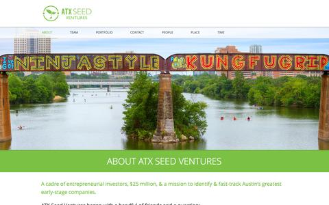 Screenshot of About Page atxseedventures.com - About - ATX Seed VenturesATX Seed Ventures - captured Sept. 30, 2014