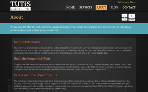 Screenshot of About Page tutis.com.au - Expert solutions. Expert results at Tutis - captured Oct. 9, 2014