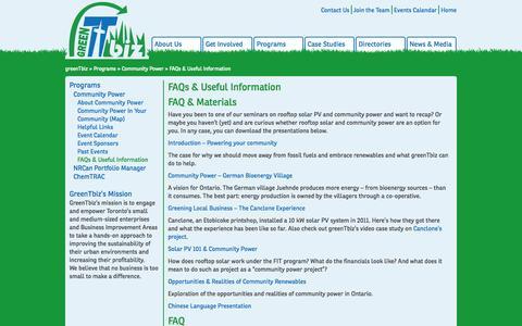 Screenshot of FAQ Page greentbiz.org - FAQs & Useful Information | greenTbiz - captured Sept. 30, 2014