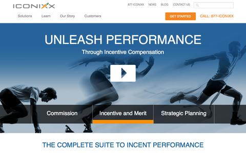Screenshot of Home Page iconixx.com - Sales Compensation Software, Management and Solutions - captured July 3, 2015