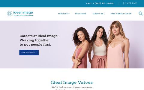 Screenshot of Jobs Page idealimage.com - Best Careers - Best Jobs - Best Workplace - Ideal Image - captured Nov. 6, 2018