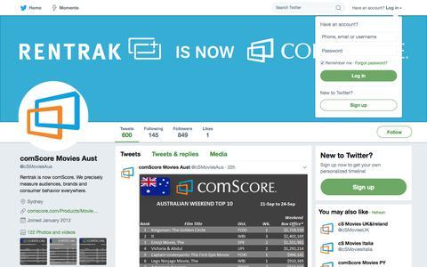 comScore Movies Aust (@cSMoviesAus) | Twitter