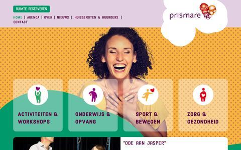 Screenshot of Home Page prismare.nl - Wijkvoorziening Prismare | Hart van de wijk - captured Jan. 8, 2017