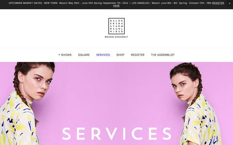 Screenshot of Services Page brandassembly.com - SERVICES — Brand Assembly - captured July 30, 2016