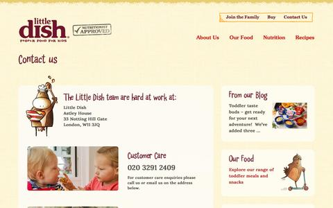 Screenshot of Contact Page littledish.co.uk - Contact Us - Little Dish - captured May 21, 2017
