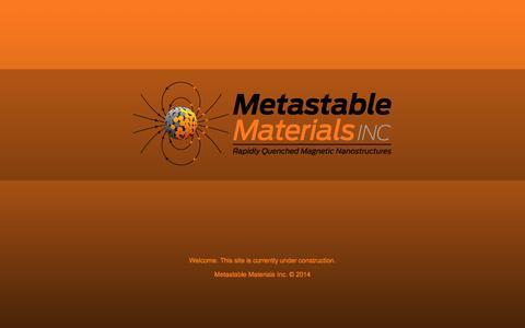 Screenshot of Home Page metastablematerials.com - Metastable Materials Inc.   Ann Arbor, MI - captured Oct. 6, 2014