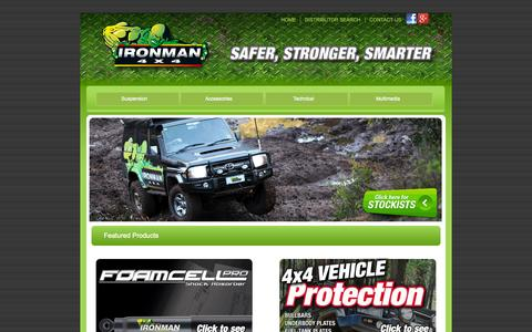Screenshot of Home Page ironman4x4.com - 4x4 Suspension & Accessories - Ironman 4x4 - captured Sept. 19, 2014