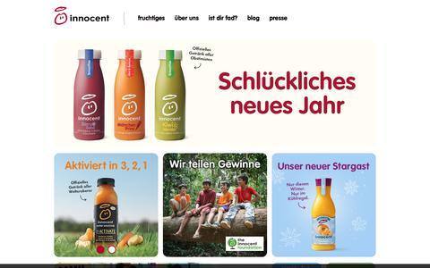 Screenshot of Home Page innocentdrinks.at - Innocent drinks – kleine feine smoothies - captured Jan. 14, 2018
