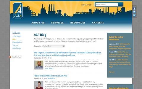 Screenshot of Blog all4inc.com - ALL4 Blog - captured Sept. 30, 2014