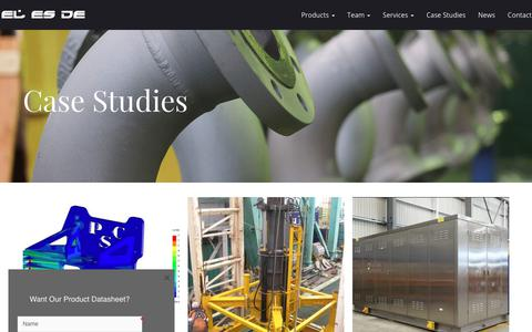 Screenshot of Case Studies Page elesde.com - Case Studies – EL ES DE Engineering Pty Ltd - captured July 10, 2017