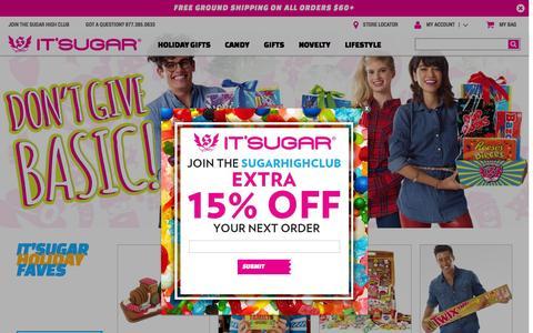 Screenshot of Home Page itsugar.com - IT'SUGAR Candy Store - captured Dec. 4, 2015