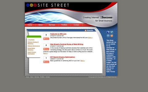 Screenshot of Blog sitestreet.com - Austin Web Design - Web Hosting - Search Engine Optimization - Social Media - captured Oct. 26, 2014