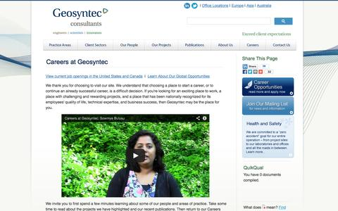Screenshot of Jobs Page geosyntec.com - Geosyntec Consultants - Engineers and Scientists - captured Oct. 2, 2014