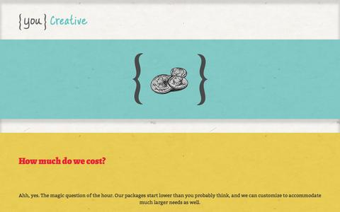 Screenshot of Pricing Page youcreative.com - How much do we cost? | You Creative - captured Oct. 7, 2014