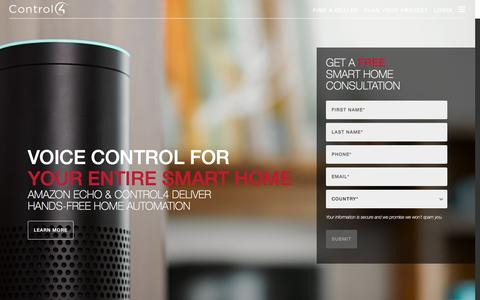 Screenshot of Home Page control4.com - Home Automation and Smart Home Systems | Control4 - captured Sept. 16, 2016