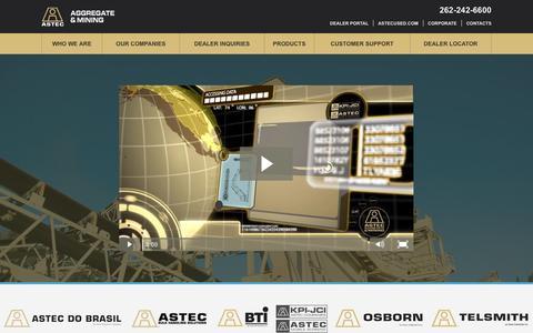 Screenshot of Home Page astecworld.com - ASTEC - captured Feb. 5, 2016