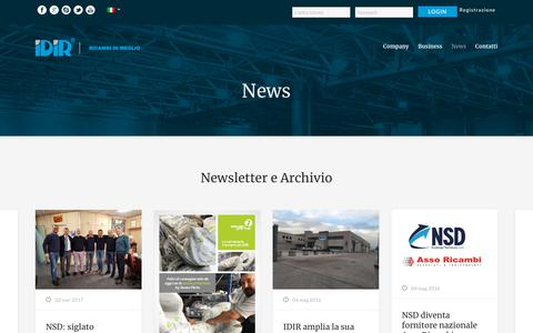 Screenshot of Press Page idir.it - News - Idir - captured Dec. 17, 2018