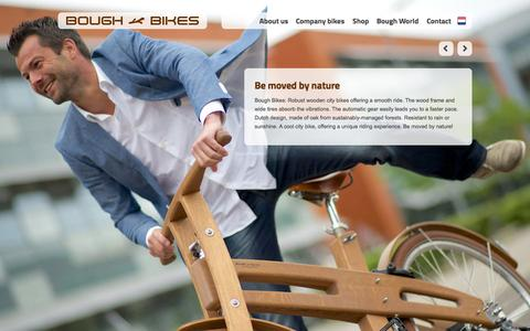 Screenshot of Home Page boughbikes.com - Be moved by nature - Bough Bikes - captured Sept. 30, 2014