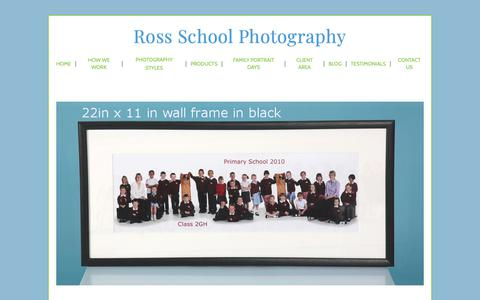Screenshot of Products Page rossschoolphoto.co.uk - Natural school portraits | photographers Ilkley West Yorkshire | product range - captured Oct. 18, 2018