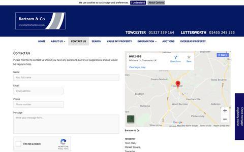 Screenshot of Contact Page bartramandco.co.uk - Contact - captured Oct. 5, 2018