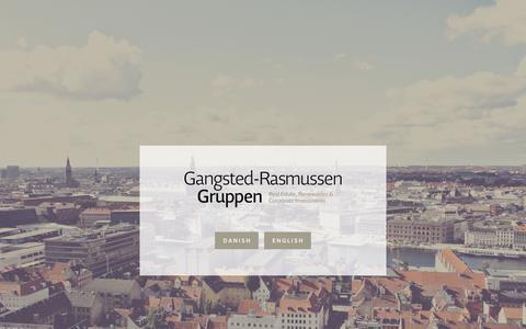Screenshot of Home Page grg.dk - Gangsted-Rasmussen Gruppen - captured March 25, 2016