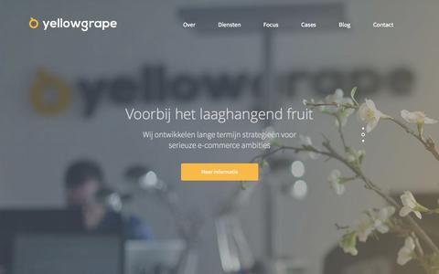 Screenshot of Home Page yellowgrape.nl - Yellowgrape - E-commerce bureau - captured Aug. 13, 2015