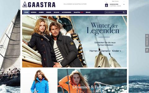Screenshot of Home Page gaastraproshop.com - Gaastra Online Shop: Gaastra Jacken, Schuhe, Blusen, Outlet | Deutschland - captured Sept. 18, 2014