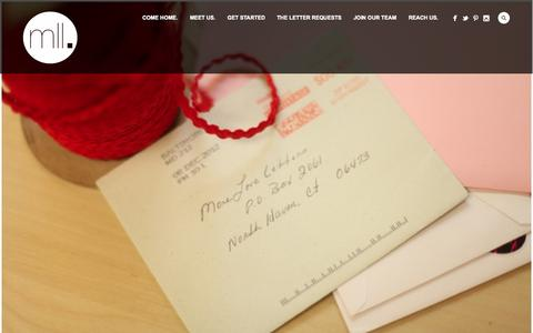 Screenshot of Home Page moreloveletters.com - The World Needs More Love Letters - captured Sept. 19, 2014