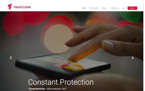 Screenshot of Home Page trustlook.com - Trustlook Anti-Virus - Protect Your Android Phone! - captured Aug. 9, 2015