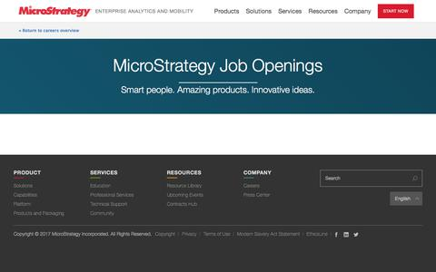 Career Openings and Job Listings | MicroStrategy
