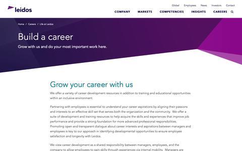 Screenshot of Jobs Page leidos.com - Build a career | Leidos - captured Jan. 29, 2019