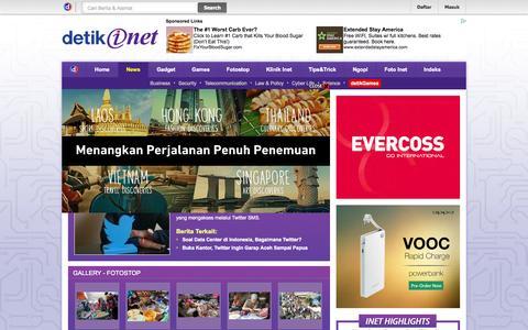 Screenshot of Press Page detik.com - detikinet : situs warta era digital - captured Sept. 19, 2014