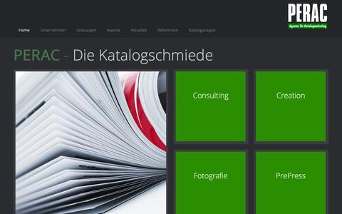 Screenshot of Home Page perac.de - Home - captured Oct. 29, 2018