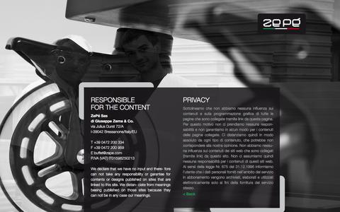Screenshot of Privacy Page zepe.com captured Feb. 13, 2016