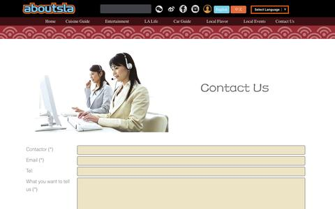 Screenshot of Support Page aboutsla.com - Customers Services - AboutsLA - captured Sept. 23, 2014