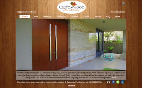 Screenshot of Home Page customwoodfi.com - Customwood Fine Interiors - captured Oct. 3, 2014