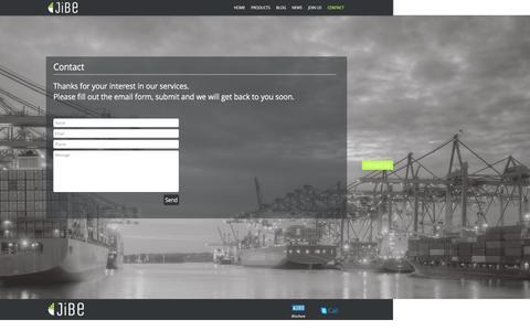 Screenshot of Contact Page jibe.com.sg - JiBe | Contact Us - captured Nov. 27, 2016